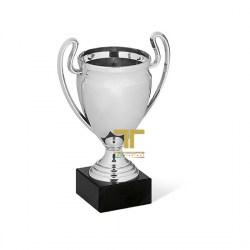 tecnocoppe Tris Coppe economiche h 40,00 38,50 37,00 cm Argento e Tricolore Premiazioni Sportive Targhetta Compresa